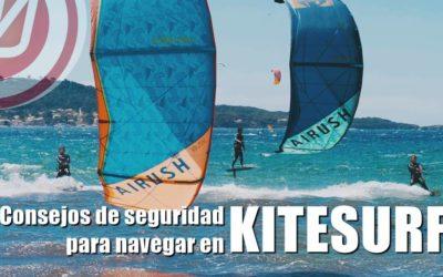 Consejos de seguridad para navegar en KITESURF