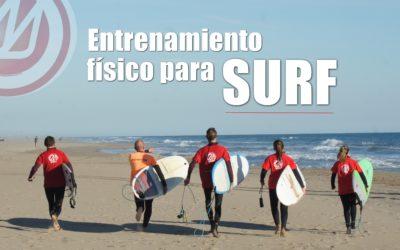 Entrenamiento físico para el surf