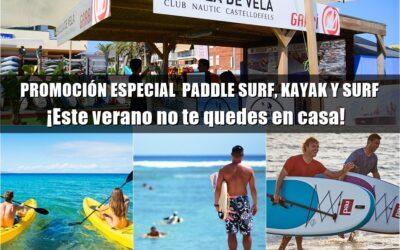 PROMOCIÓN ESPECIAL  PADDLE SURF, KAYAK Y SURF