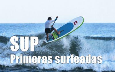 Primeras surfeadas con el SUP